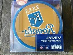1 - 4 Pack Vinyl Drink Coasters - Kansas City Royals