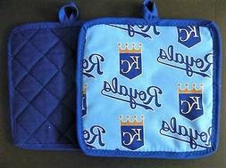 1 MLB KANSAS CITY ROYALS Potholder, new fabric design - hand
