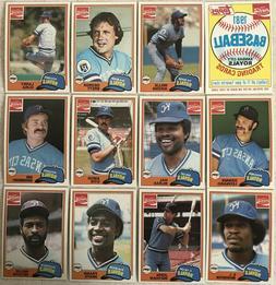 1981 Topps Coca-Cola Kansas City Royals Team Set  Near Mint-