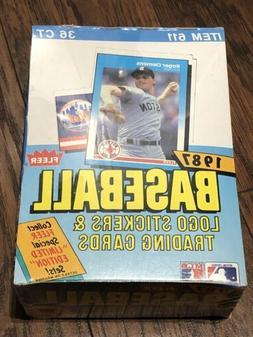 1987 Fleer Baseball Factory Sealed Box, 36 Packs, BONDS LARK