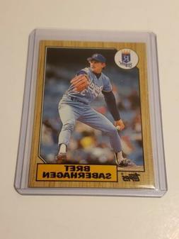1987 Topps BRET SABERHAGEN Kansas City Royals Card no.140 in