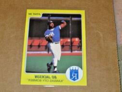 1988 Star Company Bo Jackson Kansas City Bomber Promo Card R
