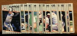 1989 Fleer Pick Your Complete Team Set Box Break Pack Fresh