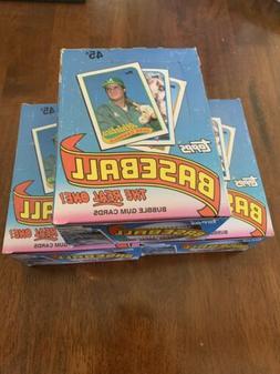 1989 Topps Baseball 3 Unopened Wax Box -36 Packs From FRESH