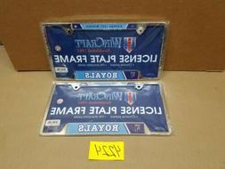 Kansas City Royals MLB Chrome License Plate Tag Frames