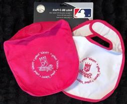 Official MLB Baseball KC Kansas City Royals BIBS Pink & Whit