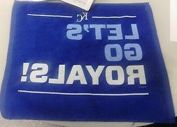 2014 Kansas City Royals Blue Rally Towel-Postseason Let's Go