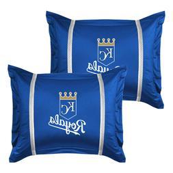 2pc Kansas City Royals Pillow Sham Set Baseball Bedding
