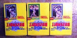 3 Boxes 1990 Score Baseball Trading Cards - 108 Packs - 1728
