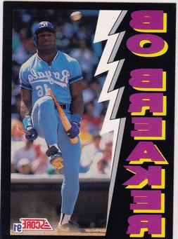 BO JACKSON Kansas City Royals BO BREAKER Baseball Bat Card A