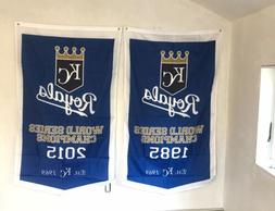 Complete Set Kansas City Royals World Series Champions 2 Ban