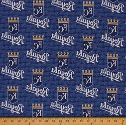 Cotton Kansas City Royals MLB Baseball Cotton Fabric Print b
