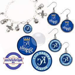 FREE DESIGN > KANSAS CITY ROYALS -Earrings, Pendant, Bracele