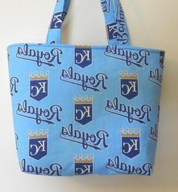 Handmade MLB Kansas City Royals Tote Purse Bag
