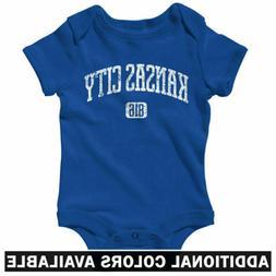 Kansas City 816 One Piece - Royals BBQ MO Baby Infant Creepe