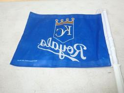 "KANSAS CITY ROYALS  14"" x 11""  double-sided CAR WINDOW FLAG"