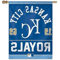 "KANSAS CITY ROYALS 1969 27""X37"" BANNER FLAG BRAND NEW WINCRA"