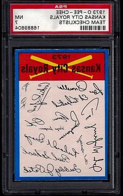 KANSAS CITY ROYALS 1973 O-Pee-Chee Blue TEAM CHECKLISTS Card