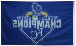 Kansas City Royals 2015 World Series Champions Flag 3x5ft Ba