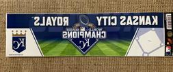 Kansas City Royals 2015 World Series Champions Bumper Sticke