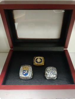 Kansas City Royals - 3 World Series and AL Ring Set with Woo