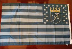 Kansas City Royals 3x5 American Flag. US seller. Free shippi
