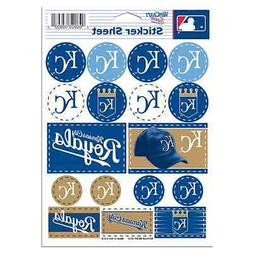 "KANSAS CITY ROYALS 5""x7"" LOGO STICKER SHEET BRAND NEW WINCRA"