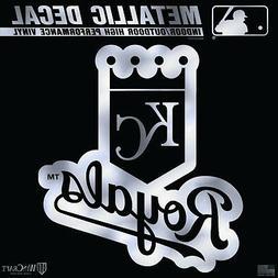 "Kansas City Royals 6"" Silver Metallic DECAL Die Cut Mirrored"