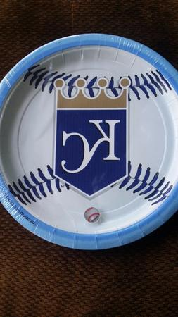 Kansas City Royals 9inch Amscan plates 18 counts
