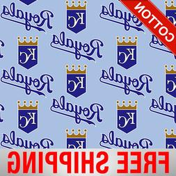 Kansas City Royals Allovers MLB Cotton Fabric - Style# 6641