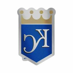 "KANSAS CITY ROYALS AUTO BADGE CAR DECAL EMBLEM 3""X5"" MLB LIC"
