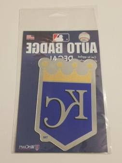 KANSAS CITY ROYALS Auto Badge Decal MLB Team Color Mirror Fi