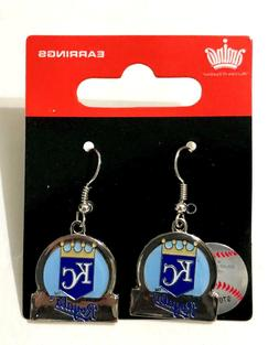 Kansas City Royals Bar Style Dangle Earrings - New