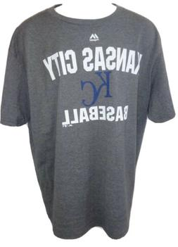 Kansas City Royals Baseball Gray Short Sleeve T-shirt