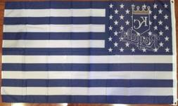 Kansas City Royals Baseball Stars and Stripes Banner Flag  D