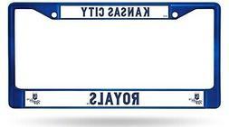 Kansas City Royals BLUE Frame Metal Chrome License Plate Tag