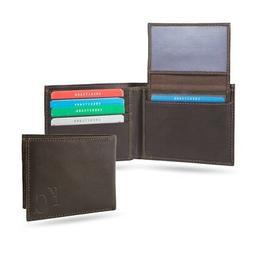 kansas city royals brown leather billfold wallet