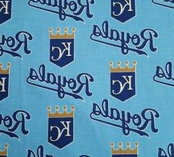 "Kansas City Royals BTY Fabric Traditions 56"" Wide Blue MLB B"