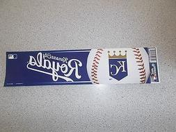 """KANSAS CITY ROYALS""  BUMPER STICKER"