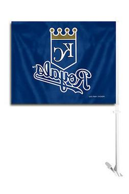 Kansas City Royals Car Flag with Pole  MLB Auto Truck Tailga