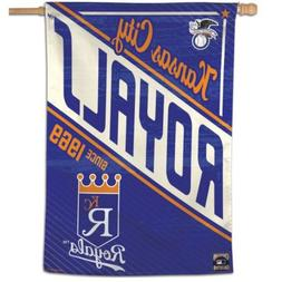 "KANSAS CITY ROYALS COOPERSTOWN COLLECTION 28""X40"" BANNER FLA"