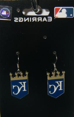 Kansas City Royals Dangle Earrings  Licensed MLB Baseball Je