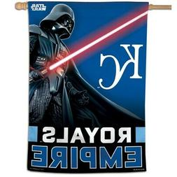 "KANSAS CITY ROYALS EMPIRE DARTH VADER 28""X40"" BANNER FLAG NE"