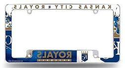 Kansas City Royals EZ View All Over Chrome Frame Metal Licen