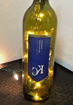 Kansas City Royals Inspired KC Wine Bottle Lamp Light Plug I
