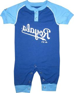 Kansas City Royals KC Coverall Baby Infant Clothes MLB Strip