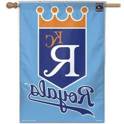 "KANSAS CITY ROYALS ""KCR"" 28""X40"" BANNER FLAG BRAND NEW WINCR"