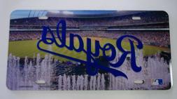 Kansas City Royals License Plate Mirrored Acrylic Stadium