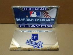 Kansas City Royals License Plate Tag and Metal Frame MLB Bas