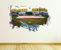 Kansas City Royals Logo MLB Custom Vinyl Wall Decals Peel &